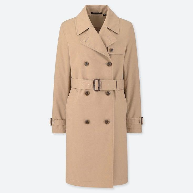 """<br><br><strong>Uniqlo</strong> Double Breasted Trench Coat, $, available at <a href=""""https://www.uniqlo.com/uk/en/product/women-double-breasted-belted-trench-coat-415317.html"""" rel=""""nofollow noopener"""" target=""""_blank"""" data-ylk=""""slk:Uniqlo"""" class=""""link rapid-noclick-resp"""">Uniqlo</a>"""