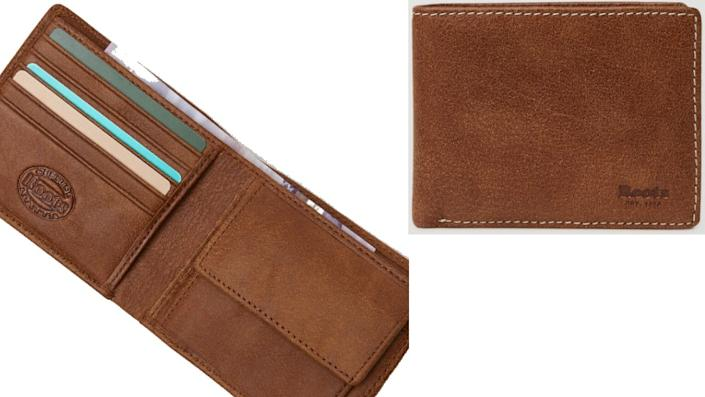 Roots Men's Slimfold Wallet with Coin Pocket Tribe - Roots Canada, $68