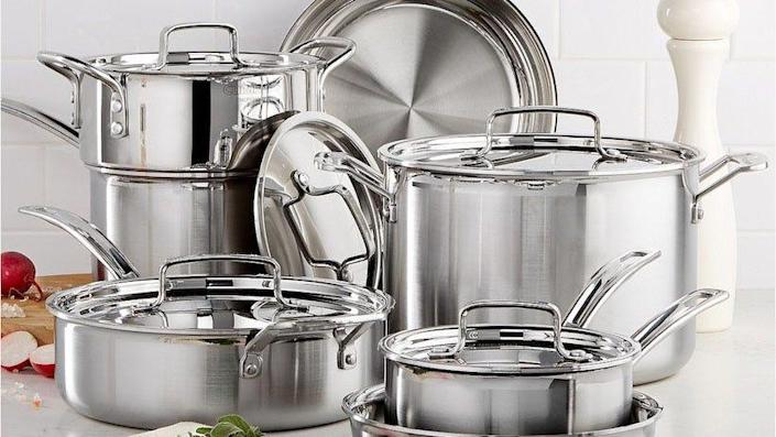 Cookware sets from Cuisinart, All-Clad, Anolon and other much-loved brands are on sale.