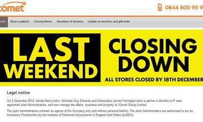 Comet's Remaining Stores Close For Last Time