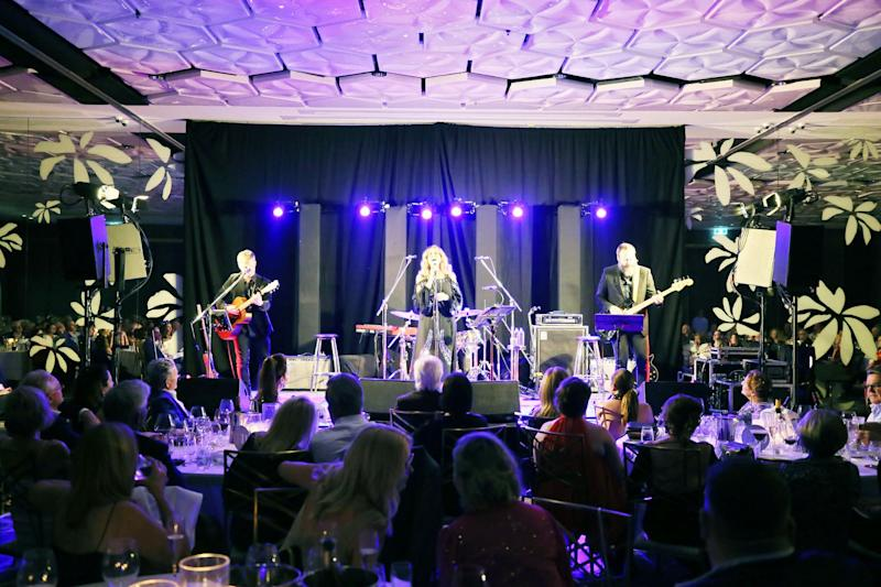 Rita Wilson and her band on stage in Brisbane