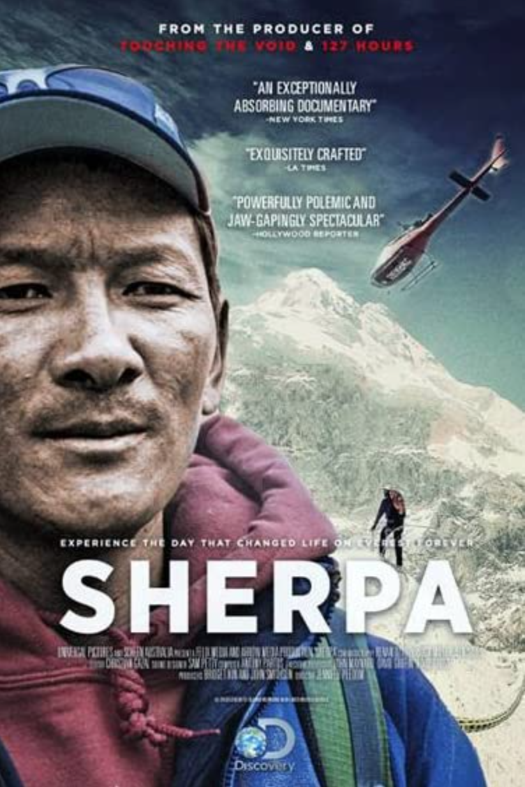 """<p>At the time, it was the deadliest day in the history of Everest. Sixteen Sherpa climbers lost their lives in an avalanche on April 18, 2014. <em>Sherpa</em> bears witness to the day, its effect on the Sherpa community, and the tragedy's indictment on a western climbers, who rely for their success on the labor of others.</p><p><a class=""""link rapid-noclick-resp"""" href=""""https://www.amazon.com/Sherpa-Jennifer-Peedom/dp/B01E4PYL8I/ref=sr_1_1?dchild=1&keywords=Sherpa+%282015%29&qid=1618412080&s=instant-video&sr=1-1&tag=syn-yahoo-20&ascsubtag=%5Bartid%7C2139.g.36099738%5Bsrc%7Cyahoo-us"""" rel=""""nofollow noopener"""" target=""""_blank"""" data-ylk=""""slk:STREAM IT HERE"""">STREAM IT HERE</a></p>"""
