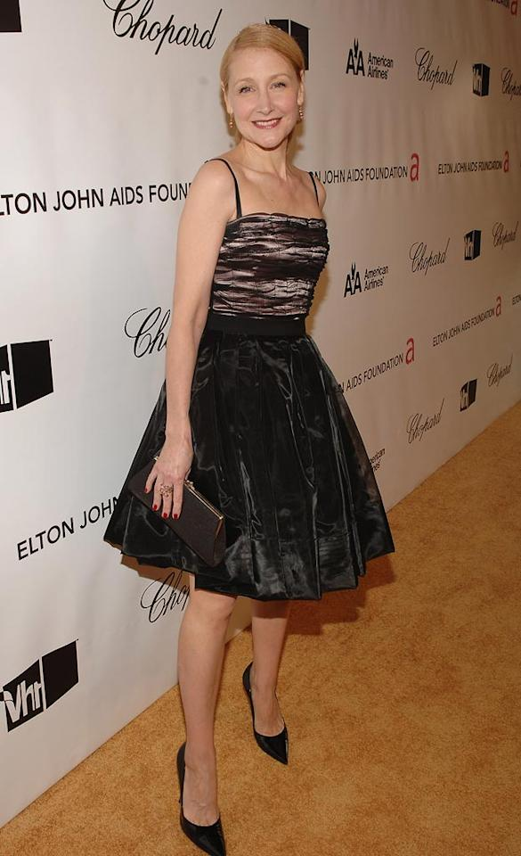 """<a href=""""http://movies.yahoo.com/movie/contributor/1800022307"""">Patricia Clarkson</a> attends the 16th Annual Elton John AIDS Foundation Oscar Party at the Pacific Design Center in West Hollywood - 02/24/2008"""