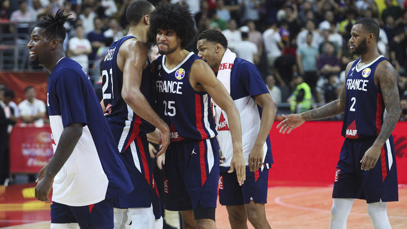 French players, pictured here after beating Team USA.