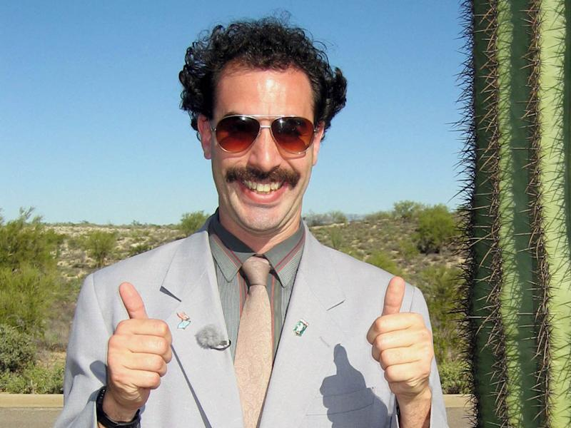 Cohen as Borat in the hit 2006 comedy (20th Century Fox)