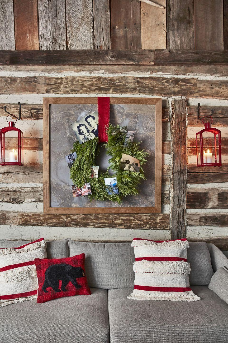 """<p>Placing family photos into your <a href=""""https://www.countryliving.com/diy-crafts/how-to/g1056/diy-wreath-ideas/"""" rel=""""nofollow noopener"""" target=""""_blank"""" data-ylk=""""slk:favorite wreath"""" class=""""link rapid-noclick-resp"""">favorite wreath</a> allows you to """"celebrate"""" the holidays with family members who are no longer living.</p><p><a class=""""link rapid-noclick-resp"""" href=""""https://www.amazon.com/National-Tree-Crestwood-Bristles-CW7-306-24W-1/dp/B00EC820TA?tag=syn-yahoo-20&ascsubtag=%5Bartid%7C10050.g.1247%5Bsrc%7Cyahoo-us"""" rel=""""nofollow noopener"""" target=""""_blank"""" data-ylk=""""slk:SHOP CHRISTMAS WREATHS"""">SHOP CHRISTMAS WREATHS</a></p>"""