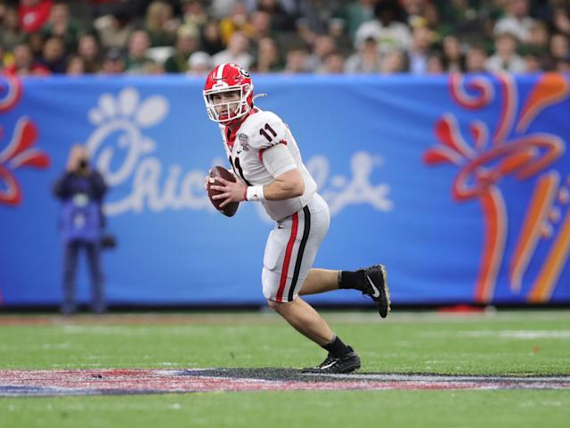 Georgia QB Jake Fromm is viewed as a high-floor, lower-ceiling NFL draft prospect. (Photo by John Bunch/Icon Sportswire via Getty Images)