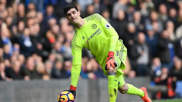 Real Madrid's speculated interest in Thibaut Courtois has not turned the Chelsea goalkeeper's head amid a Premier League title charge.