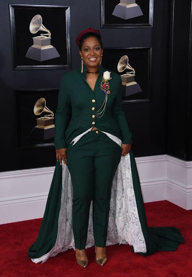 <p>Rapsody attends the 60th Annual Grammy Awards at Madison Square Garden in New York on Jan. 28, 2018. (Photo: John Shearer/Getty Images) </p>