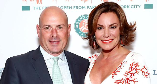 Tom D'Agostino Jr. and Luann D'Agostino attend the Roland-Garros reception at French Consulate on June 8, 2017. (Photo: Astrid Stawiarz/Getty Images)