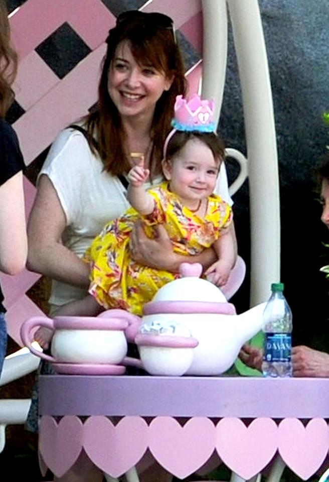 Lucky little girl! Alyson Hannigan's tot Keeva enjoyed a Mad Hatter-themed party in honor of her first birthday at Disneyland. (5/23/2013)