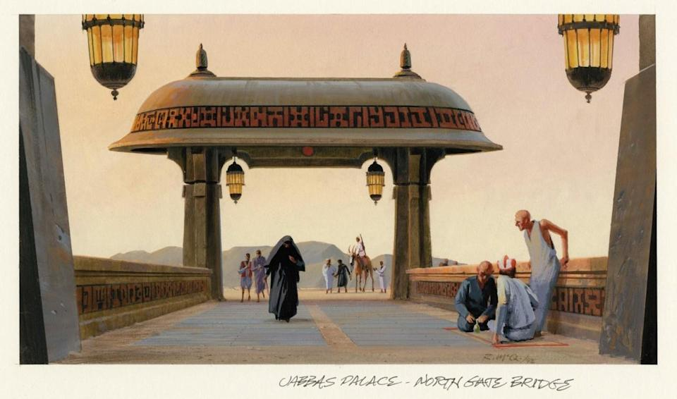 <p>Recognize this image? J.J. Abrams appropriated the design for the Jakku spaceport in 'The Force Awakens.' The structure winds up being demolished by the Millennium Falcon. </p>