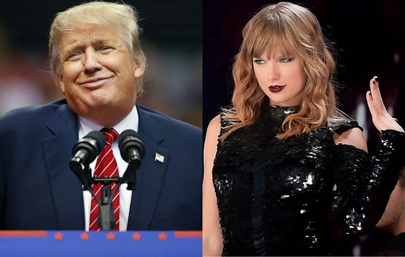 "Taylor Swift criticizes Trump and adds ""Obviously I'm pro-choice"""