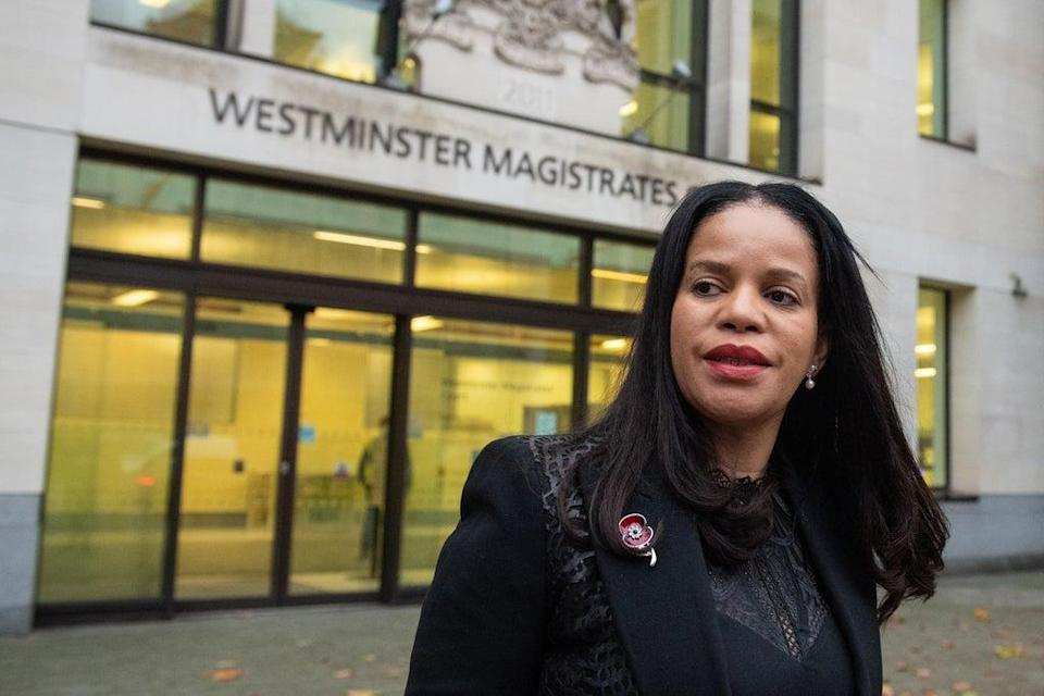 Leicester East MP Claudia Webbe leaving court (Dominic Lipinski/PA) (PA Archive)
