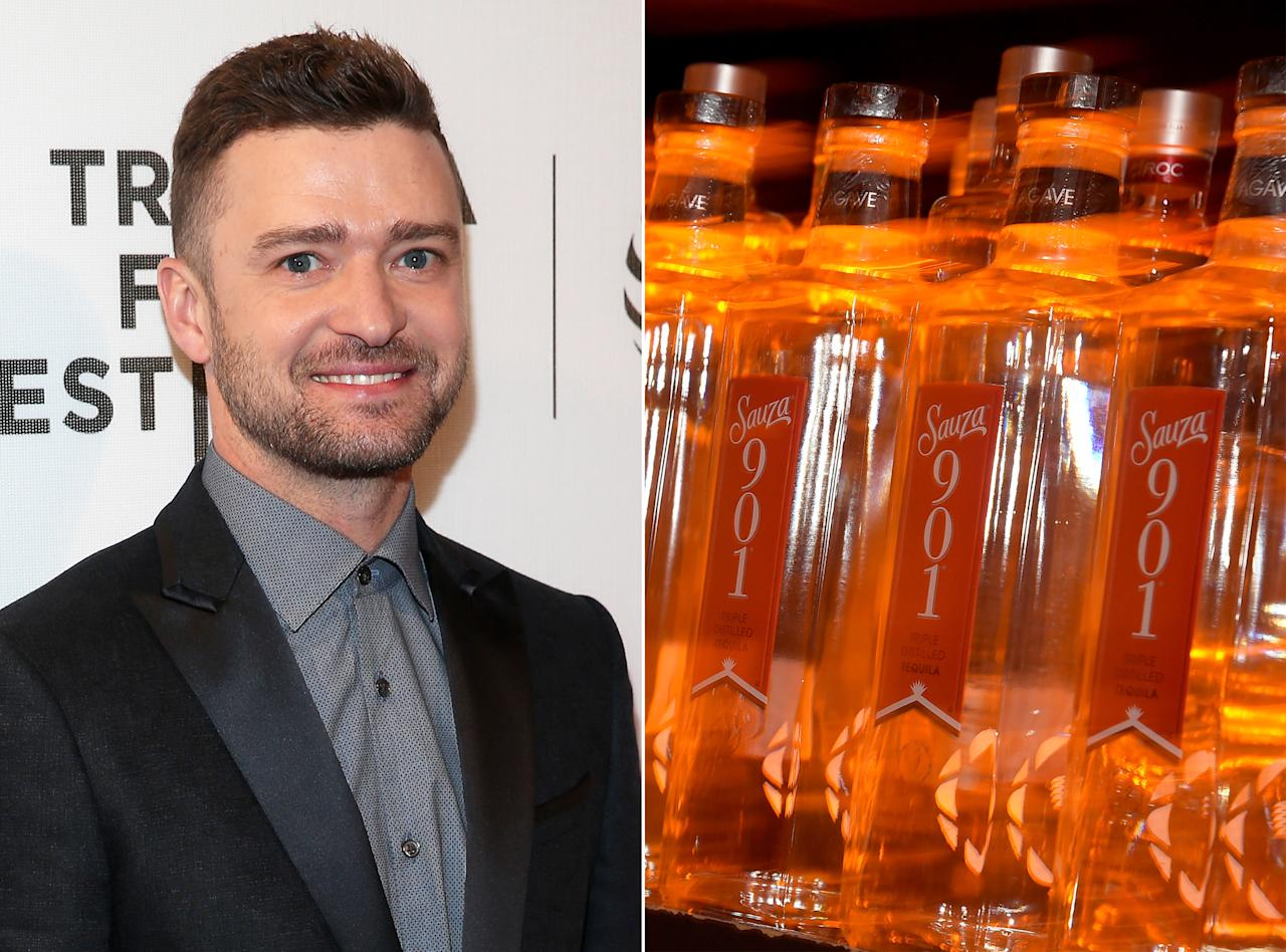 <p>Singer-songwriter-actor Justin Timberlake co-founded his own version of Sauza tequila in 2009, according to Forbes. Branded Sauza 901, it's named after Timberlake's hometown area code in Memphis, Tennessee, and for the hour when the party really gets started.<br />Timberlake's co-creation took home a gold medal from the esteemed San Francisco World Spirits Competition in 2012.<br />(InStyle) </p>