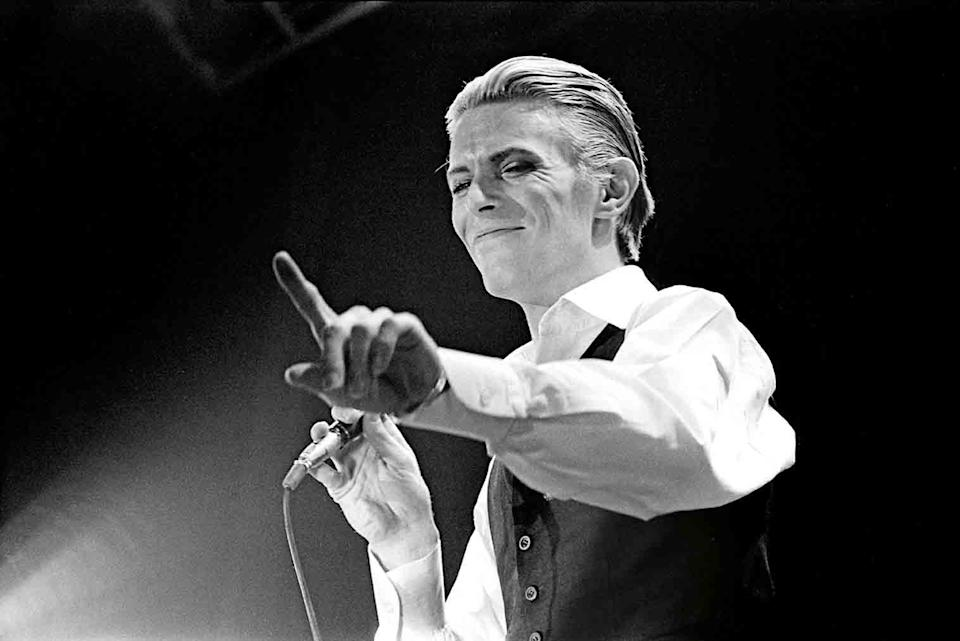 Bowie performing live on stage, 1976Janet Macoska / Iconic Images