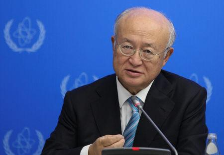 FILE PHOTO: International Atomic Energy Agency (IAEA) Director General Yukiya Amano speaks during a news conference in Astana, Kazakhstan, August 29, 2017. REUTERS/Mukhtar Kholdorbekov