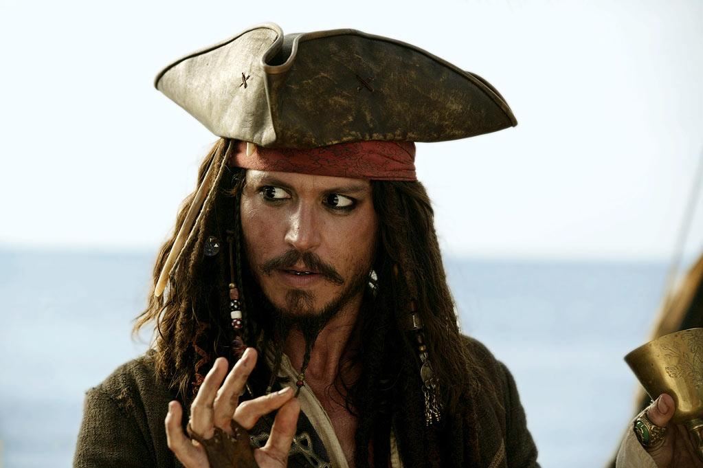 "Johnny Depp, ""The Pirates of the Caribbean"" (2003)"
