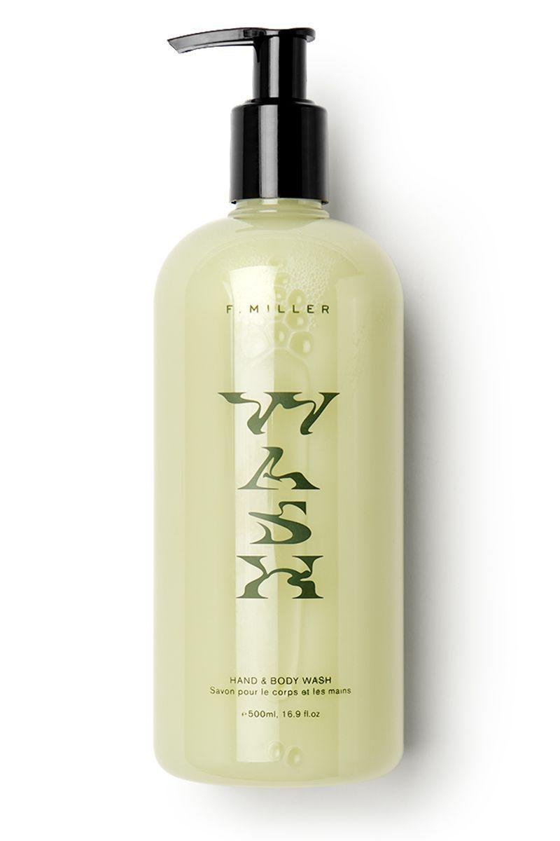 """<p><strong>F.Miller Hand Wash</strong></p><p>fmillerskincare.com</p><p><strong>$45.00</strong></p><p><a href=""""https://fmillerskincare.com/products/hand-body-wash-1"""" rel=""""nofollow noopener"""" target=""""_blank"""" data-ylk=""""slk:Shop Now"""" class=""""link rapid-noclick-resp"""">Shop Now</a></p><p>Toronto-founded F.Miller Skincare is still under the radar here in the U.S., but that doesn't make us any less obsessed with the cool sustainable packaging (it's 100% recyclable and made of post-consumer resin) and even cooler plant-based formula. The subtle lather feels like a green juice for your skin—it cleanses without stripping, simply leaving it feeling healthy. </p>"""