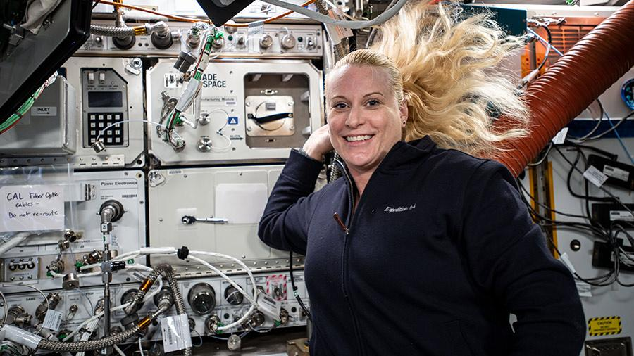 Expedition 64 NASA astronaut Kate Rubins floats on the International Space Station where she'll be living, working and researching as part of a myriad of science experiments alongside her crewmates. Rubins launched to the space station Oct. 14, 2020 alongside two Russian cosmonauts.