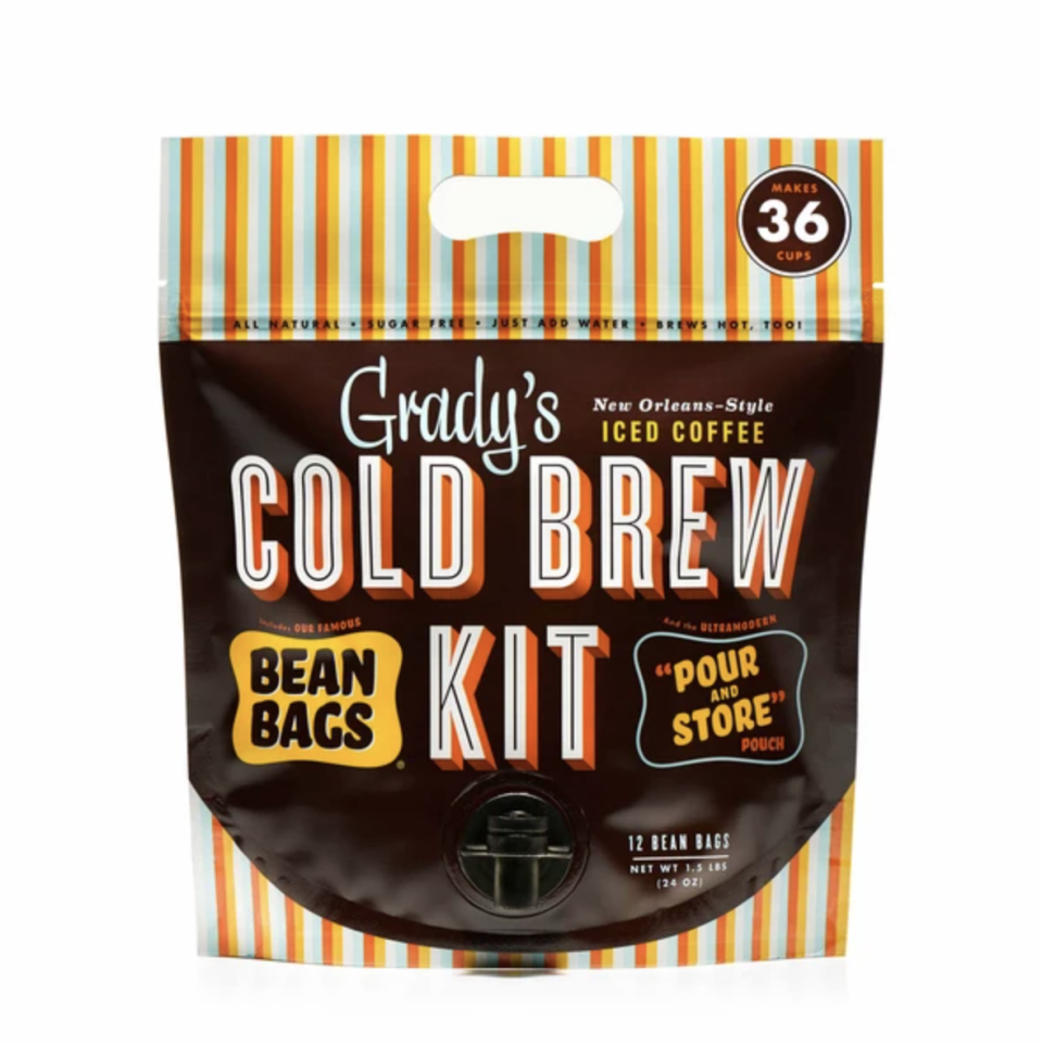 "<p><strong>Grady's Cold Brew</strong></p><p>gradyscoldbrew.com</p><p><strong>$305.00</strong></p><p><a href=""https://www.gradyscoldbrew.com/collections/shop-online/products/cold-brew-kit-12-month-supply"" rel=""nofollow noopener"" target=""_blank"" data-ylk=""slk:BUY IT HERE"" class=""link rapid-noclick-resp"">BUY IT HERE</a></p><p>Grady's next-level iced coffee makes a pack that lasts a year. A year! Coffee for a year is the kind of gift that'll be hard to beat. </p>"