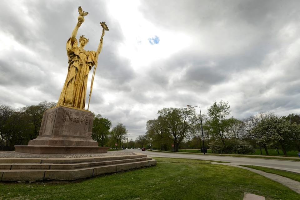 A photo of Jackson Park in Chicago in May, 2015.