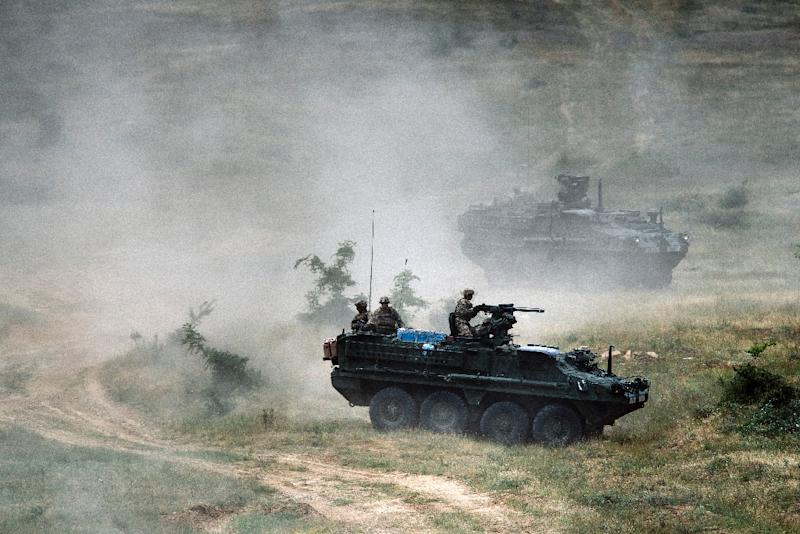 US Army during a joint military drill at Novo Selo military ground in Bulgaria on June 25, 2015 (AFP Photo/Dimitar Dilkoff)