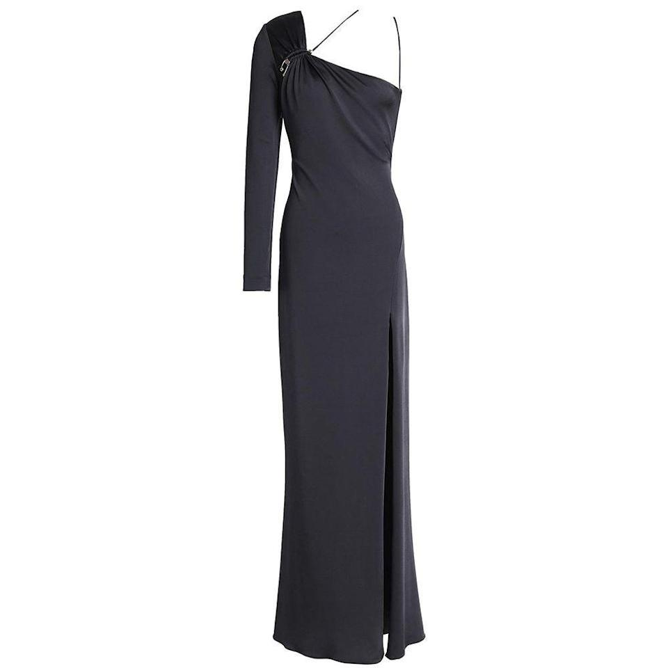 """<p><strong>CUSHNIE</strong></p><p>theoutnet.com</p><p><a href=""""https://go.redirectingat.com?id=74968X1596630&url=https%3A%2F%2Fwww.theoutnet.com%2Fen-us%2Fshop%2Fproduct%2Fcushnie%2Fdresses%2Fmaxi-dress%2Fleonora-one-shoulder-ruched-satin-jersey-gown%2F1050808952282&sref=https%3A%2F%2Fwww.harpersbazaar.com%2Ffashion%2Ftrends%2Fg34499715%2Foutnet-fall-sale%2F"""" rel=""""nofollow noopener"""" target=""""_blank"""" data-ylk=""""slk:Shop Now"""" class=""""link rapid-noclick-resp"""">Shop Now</a></p><p><strong><del>$2,025</del> $405 (80% off)</strong></p><p>Editor's Note: Even though black tie events remain on hold, this satin-jersey number is on a once-in-a-lifetime kind of find. Versatile enough to be worn any time of the year, this is certain to make anyone who wears it the best dressed guest at future soirees. </p>"""