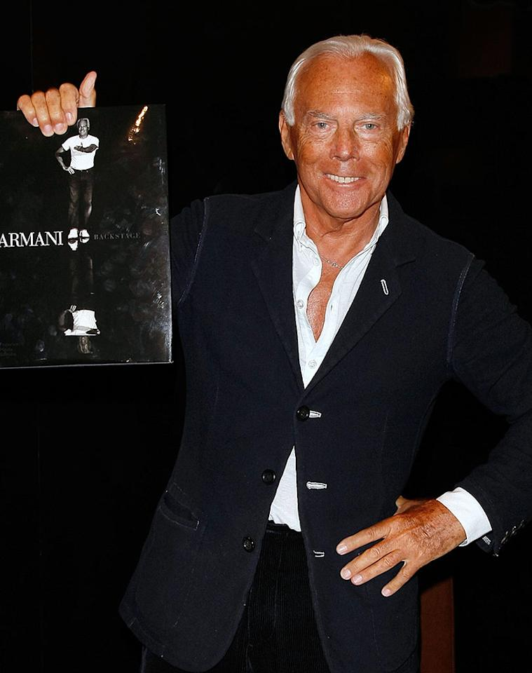 """Forget the impeccable suits and exquisite handbags. Giorgio Armani should channel his true passion and design a line of luxury tanning beds. Jemal Countess/<a href=""""http://www.wireimage.com"""" target=""""new"""">WireImage.com</a> - May 5, 2008"""