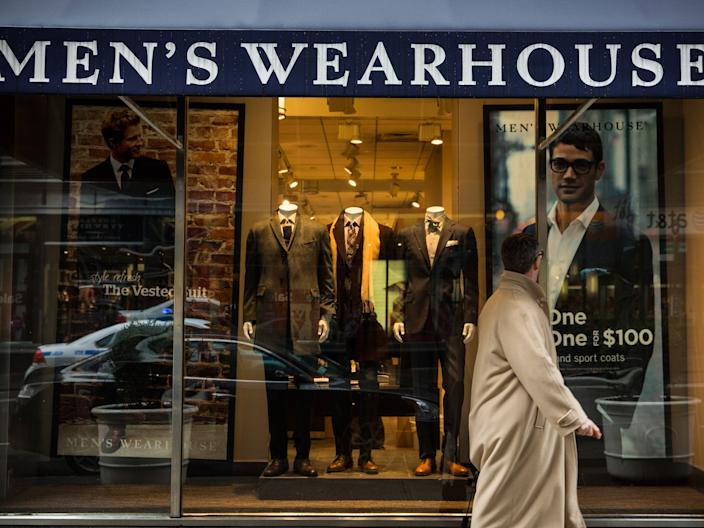 "A Men's Wearhouse storefront. <p class=""copyright"">Getty/ Andrew Burton</p>"