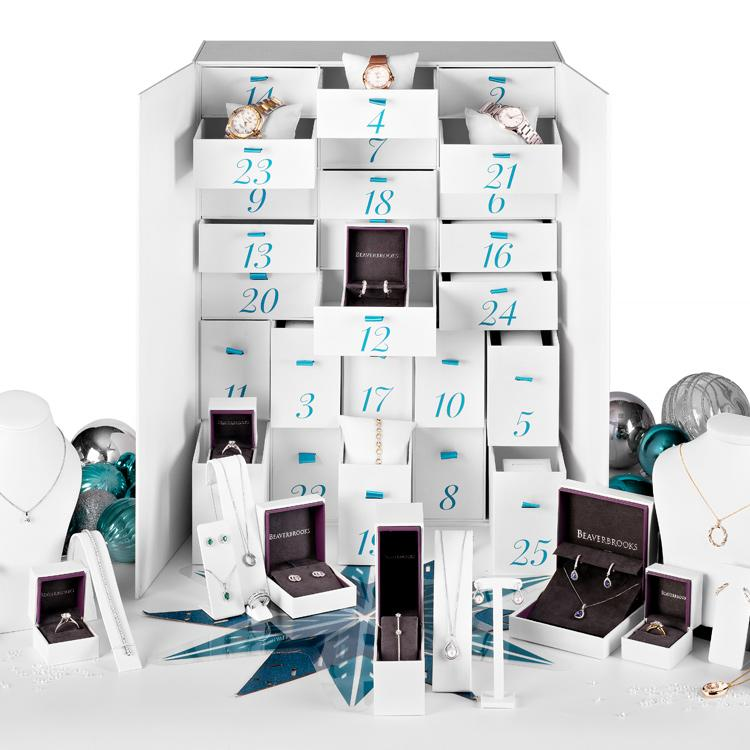Diamond-a-day Advent Calendar, £100,000 [Photo: Beaverbrooks]