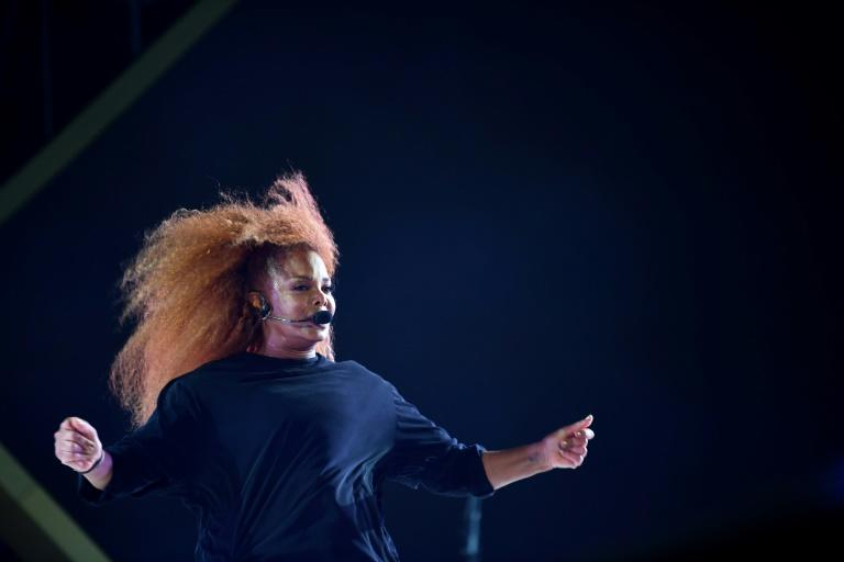 US singer Janet Jackson performed at the festival which also featured rapper 50 Cent and singer Chris Brown (AFP Photo/AMER HILABI)