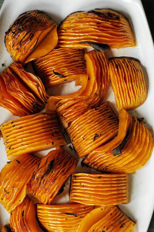"""<p>Word to the wise: This buttery butternut squash is a fall favorite for a reason. </p><p><em><a href=""""https://www.womansday.com/food-recipes/food-drinks/recipes/a60499/hasselback-butternut-squash-with-browned-butter-recipe/"""" rel=""""nofollow noopener"""" target=""""_blank"""" data-ylk=""""slk:Get the Hasselback Butternut Squash with Browned Butter recipe."""" class=""""link rapid-noclick-resp""""><strong>Get the Hasselback Butternut Squash with Browned Butter recipe.</strong></a> </em></p>"""