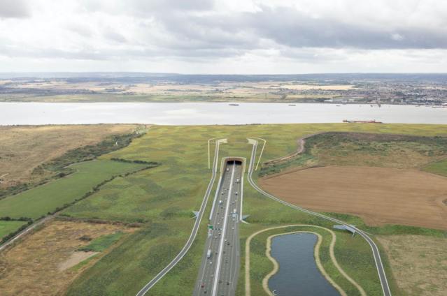 The tunnel will connect Kent to Essex (SWNS)