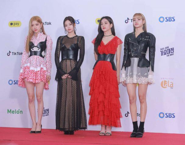 PHOTO: Members of South Korean girl group BlackPink attend a singing competition on Dec. 25, 2018 in Seoul, South Korea. (VCG via Getty Images)
