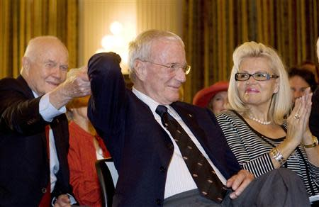 Former astronaut Scott Carpenter at the 40th anniversary of the walk on the moon while in Washington in this file photo