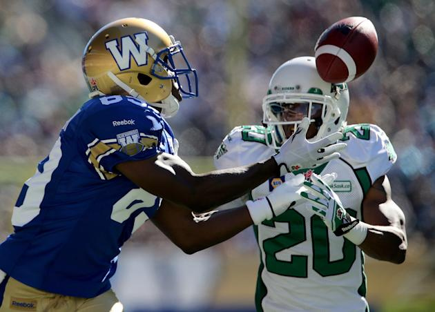 The Blue Bombers and Roughriders had a big audience despite going head-to-head with the NFL. (The Canadian Press)