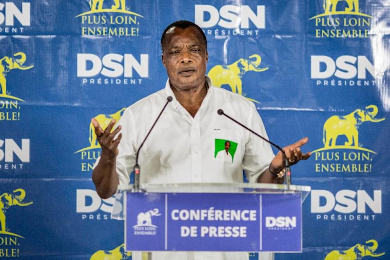 "Congolese President Denis Sassou Nguesso hailed the African Union agreement to boost security off the continent's coast as ""historic"" (AFP Photo/Marco Longari)"