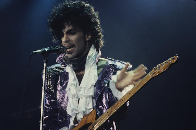 American musician Prince performs in concert, New York, New York, circa 1989. (Photo by Larry Busacca/WireImage)