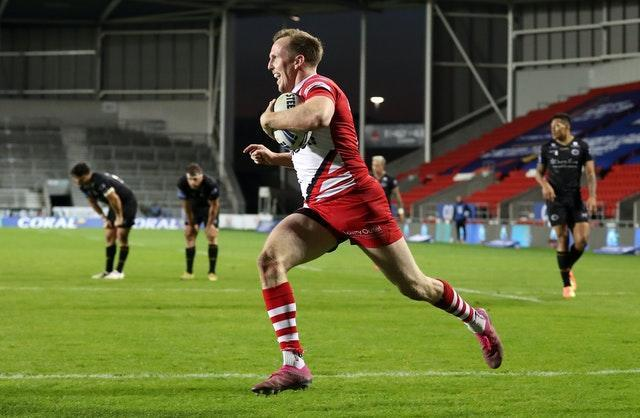 Sarginson was cleared to play in the Challenge Cup final before contracting coronavirus
