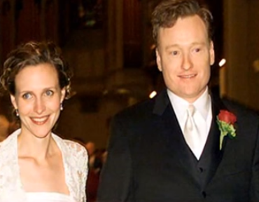 <p>It was love at first sight for Conan, who visited a marketing firm, on work for his show. After filming the segment, O'Brien asked out Liza Powel. Since she was a fan, she said yes. They dated for nearly a year and half before they married in 2002. The couple is still together and have a daughter and a son.</p>