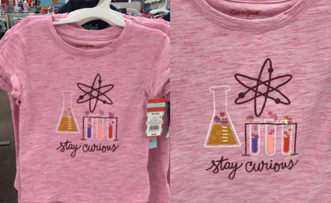 b506cffc4 Target is selling a science shirt for little girls. (Photo: MegN_AZ/Twitter)