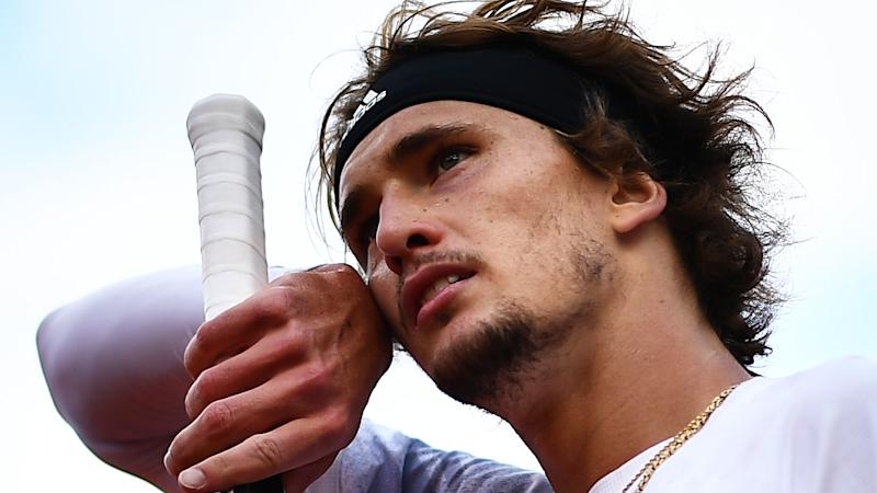 Alexander Zverev is pictured during the French Open.