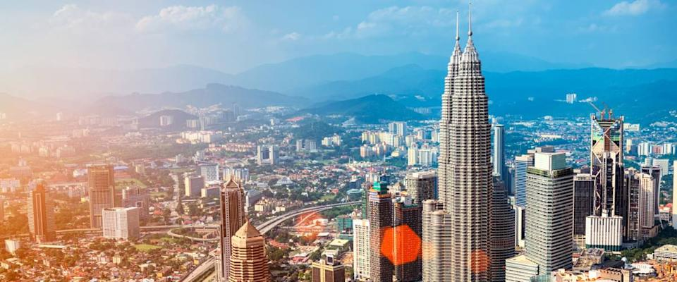 <cite>r.nagy / Shutterstock</cite> <br>Kuala Lumpur, Malaysia's capital and largest city, is more affordable than U.S. cities.<br>