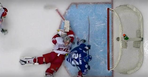 Jonas Gustavsson makes miraculous stick save, stuns Maple Leafs (Video)