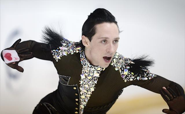 Johnny Weir of USA skating during the men's short program of 2012 Finlandia Trophy Espoo International figure skating competition in Espoo, Finland, Friday Oct. 5, 2012. (AP Photo / LEHTIKUVA, Antti Aimo-Koivisto) FINLAND OUT - NO SALES