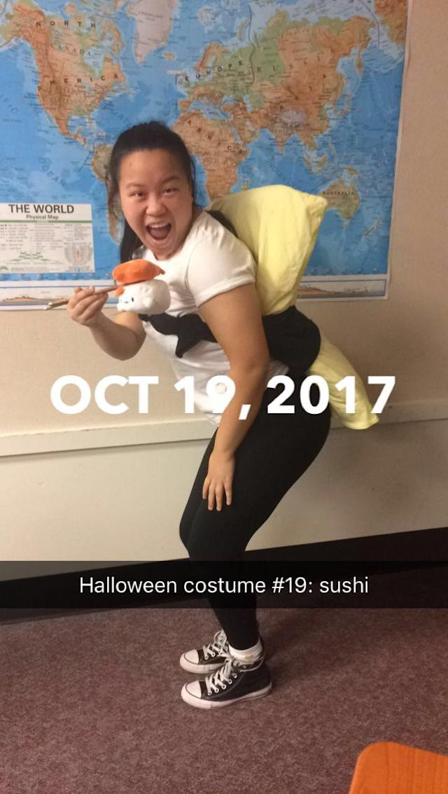 Molly Foote in her sushi costume. (Photo: courtesy of Molly Foote)