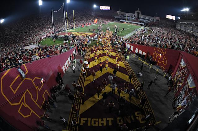 A former USC assistant says he was forced out because he reported NCAA violations. (Photo by Chris Williams/Icon Sportswire via Getty Images)