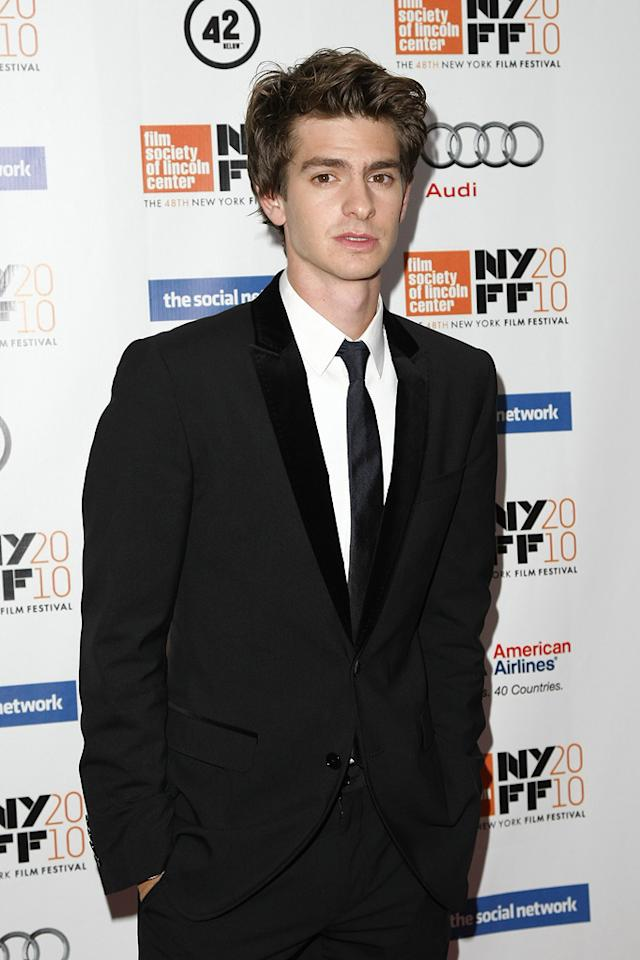 """<a href=""""http://movies.yahoo.com/movie/contributor/1809693250"""">Andrew Garfield</a> at the New York City premiere of <a href=""""http://movies.yahoo.com/movie/1810128131/info"""">The Social Network</a> on September 24, 2010."""