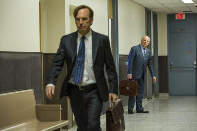 Bob Odenkirk as Jimmy McGill and Michael McKean as Chuck McGill in AMC's 'Better Call Saul' (Photo Credit: Michele K. Short/AMC/Sony Pictures Television)